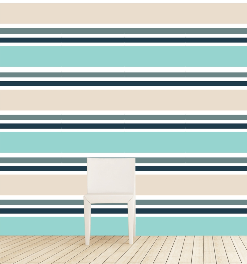 South Beach Stripe Jade install